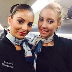 Bulgaria Air stewardess crewfie