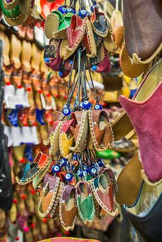 Shoes at the Grand Bazaar . Istanbul