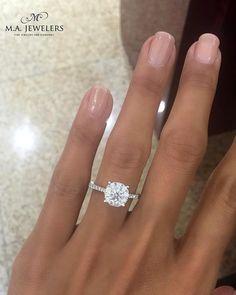 42 Top Round Engagement Rings: Best Rings Ideas %%page%% %%sep%% %%sitename%% Black Diamond Earrings, Stud Earrings, Earring Studs, Country Wedding Jewelry, Bridal Rings, Wedding Rings, Beautiful Engagement Rings, Rings Cool, Or Rose