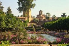 Alcázar de los Reyes christianos de Cordoba, Spain.