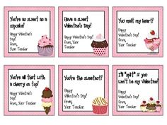 Valentine's Day Cards, Toppers and Bookmarks - Sweet Tooth Theme