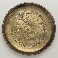 بشقاب عهد ساسانیان Sassanid Bronze plate