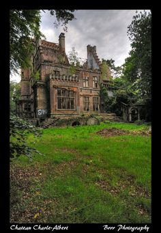 Abandoned Chateau Charle-Albert Castle in Boitsfort, Belgium was built in 1869 and was heavily damaged during World War II, A new company is promising to restore it this year, (2014)after 39 years of emptiness!