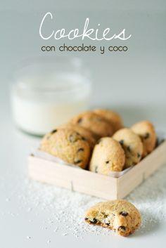 Cookies con chocolate y coco | Recetas Fáciles de Cocina: A mi lo que me gusta es cocinar