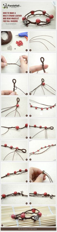 How to Make a Multi Strand Leather and Bead ... | Jewelry Making Tuto�� by wanting