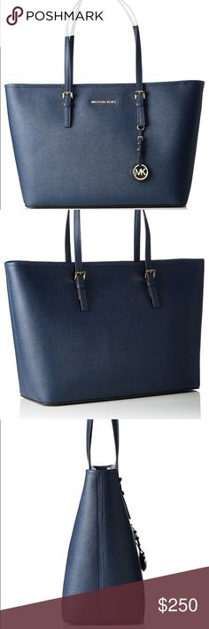 006610f9db5 MICHAEL Michael Kors tote in saffiano leather Navy 🌟🛍 Host Pick! Barely  Used. In beautiful timeless Navy leather. A large
