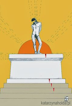 KATARZYNA HOŁDA, SACRED KING illustration to Trzy Kolory magazine,  digital, 2012 version 2 katarzynaholda.pl