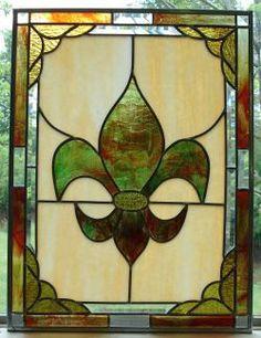 fleur de lis stained glass
