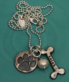 Puppy love custom necklace by The Vintage Pearl. Perfect for dog lovers!