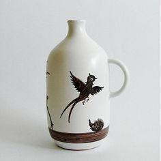 modranska / fľaša zver Vase, Mugs, Tableware, Home Decor, Dinnerware, Decoration Home, Room Decor, Tumblers, Tablewares