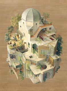 Galería de Abismo arquitectónico en las ilustraciones de Cinta Vidal - 14