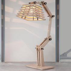 Oak wood giant lamp Tree of light dutch design