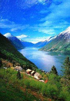 Geiranger fjord, Norway --- This is inspiration for one the places in my setting. A particular fjord that has historical importance to the setting and the backstory of The Wolfen. Now, just to figure out name(s) for the village(s) around that location.