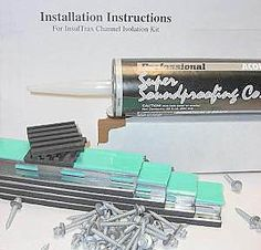 Set of plus Acoustical Caulk - Fasteners- Vibration Support Pads and Instructions