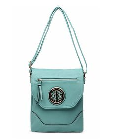 Look what I found on #zulily! Light Blue Millie Crossbody Bag by MKF Collection #zulilyfinds