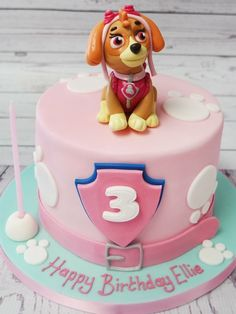 ▷ 1001 + inspiration for fancy Paw Patrol cake Cupcakes Paw Patrol, Paw Patrol Sky Cake, Girls Paw Patrol Cake, Bolo Do Paw Patrol, Paw Patrol Torte, Paw Patrol Birthday Girl, After Eight Torte, Cake Designs For Boy, Pink Birthday Cakes