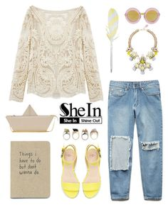 """Beige"" by a-hint-of-nutmeg ❤ liked on Polyvore featuring Moschino Cheap & Chic, Forever 21, Bijoux Heart, Zara, Markus Lupfer, HAY, women's clothing, women, female and woman"