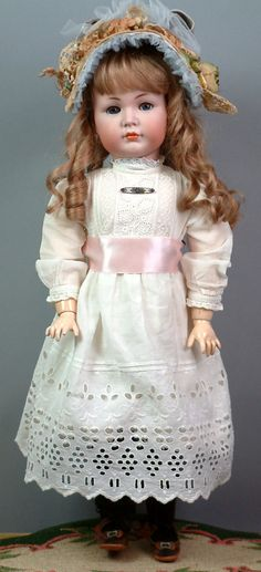"""20.5"""" Kammer & Reinhardt 117/A 'Mein Liebling' Closed Mouth All Antique German Character Doll"""