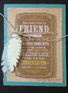 #ctmh Skylark card with feathers The Brae-er | Just another WordPress site