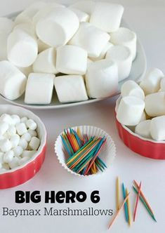Make some for decorations? Or an activity? Baymax Marshmallow Craft for a Big Hero 6 Birthday Party