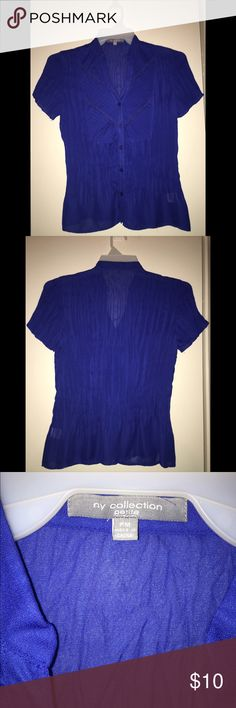 Very pretty Royal Blue 💙 Blouse Blouse. Royal blue. Good for business casual. 👍🏾 great condition! Size Petite medium. 💙 NY Collection Tops Blouses