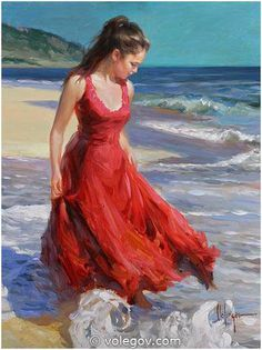 """On the Beach"" by Vladimir Volegov, painting, cm, oil on canvas Female Portrait, Portrait Art, Female Art, Portraits, Abstract Portrait, Portrait Paintings, Painting Abstract, Acrylic Paintings, Art Paintings"