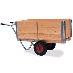 General purpose truck with drop down sides to make loading and unloading goods quick and easy. Wooden Cart, Wooden Truck, Flat Bed Trolley, Atv Implements, Best Wagons, Metal Bins, Garage Workshop Organization, Tool Cart, Floating Desk