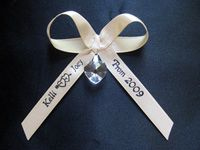 Personalized Ribbon/Bow for prom or wedding garters