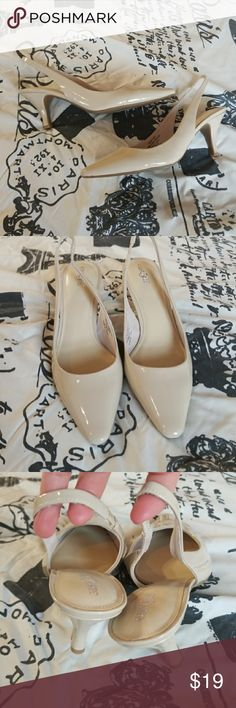 """💋3/$24💋NWT EAST 5TH NUDE SLINGBACKS Excellent condition. 3"""" heel   💋3 for $24💋 BUNDLE any 3 items (listed 3 for $24), IGNORE the bundle price & OFFER $24 🌺See mannequin listing for size reference.   Also CHECK OUT my 🦄3 for $15🦄, ⚘3 for $50⚘ & ♥️10 for $10♥️ sale!  Why SHOP MY Closet? 💋Smoke/ Pet Free 💋OVER 1000 🌟🌟🌟🌟🌟RATINGS 💋POSH AMBASSADOR &TOP 10% Seller  💋TOP RATED 💋 FAST SHIPPER  💋BUNDLES DISCOUNT 💋EARN VIP DOLLARS W/ EVERY PURCHASE ❤HAPPY POSHING!!! 💕 East 5th…"""