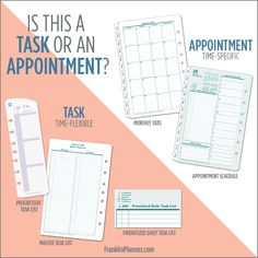 Task or appointment? Where does it belong? #planner
