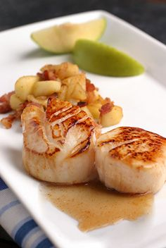 Maple-Glazed Scallops
