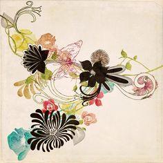 Illustration by Elisabeth Perotin #illustration#flower#abstract#art http://septembersbliss.blogspot.fr/