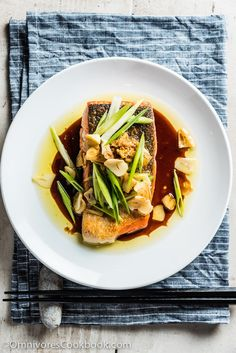 Crispy Salmon with Ginger Soy Sauce - This recipe combines the ...
