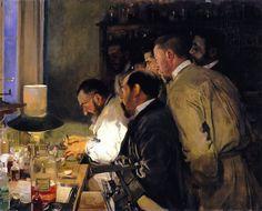 Una Investigacion, Doctor Samarro en su laboratorio.1897.