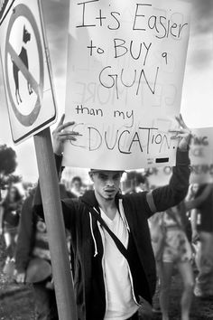I suspect if we had more education, we might need fewer guns.