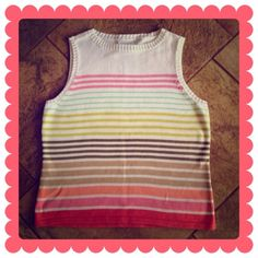 LIZ CLAIBORNE Sweater Tank 🔷BUNDLE & SAVE 30%🔷   This is lightweight & soft. Multi-colored stripes. Can be worn by itself or under a cute blazer. NWOT! Liz Claiborne Sweaters