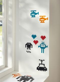 Put a personal touch on your college space! Decorative stickers add a totally new look to the room without painting or damaging walls.
