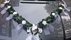 Autoschmuck Autogirlande Efeugirlande Brautauto Hochzeit 3tlg weiß    eBay