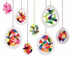 Kaleidoskop-Eier day crafts for kids preschool Pergament-Eier Valentine's Day Crafts For Kids, Diy For Kids, Diy And Crafts, Arts And Crafts, Valentines Bricolage, Valentine Day Crafts, Easter Art, Easter Crafts, Craft Activities