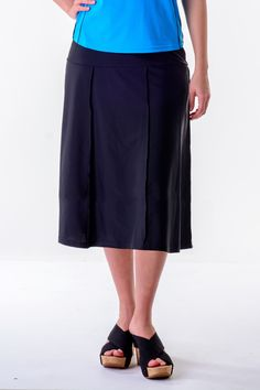 7ad1dd32cb2 Hydrochic Plus Size Long Swim Skirt Waters Edge Hip Hiding  #plussizeswimwear #plussizeswimskirt #plussizelongswimskirt