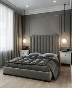 Design your life to suit your style perfectly. Mid-Century Bedroom Decor Tips & Tricks to Make This Bedroom Decor Last You Seasons and Seasons. Decorating a bedroom decor might be one of the biggest hardship Luxury Bedroom Design, Master Bedroom Design, Luxury Interior Design, Luxury Home Decor, Home Interior, Home Decor Bedroom, Home Design, Master Suite, Bedroom Ideas