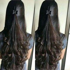 Nice hair idea for long curls Nice hair idea for long curls Bride Hairstyles, Hairstyles Haircuts, Cool Hairstyles, Hairstyles Videos, African Hairstyles, Wedge Hairstyles, Medium Hair Styles, Curly Hair Styles, Natural Hair Styles