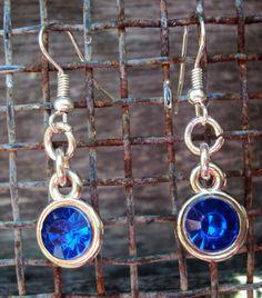 Oorbel Bling blauw