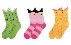 Fun socks by  UncommonGoods.