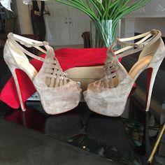 Christian Louboutin Shoes - Christian Louboutin Size 40 Carlotta Beige Suede