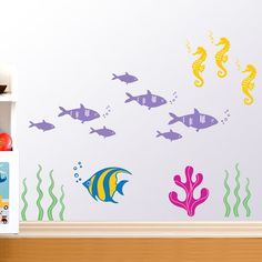 Underwater fish wall decals