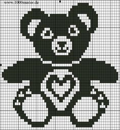 This Pin Was Discovered By Reb - Diy Crafts - maallure Crochet Patterns Filet, Crochet Pullover Pattern, Cross Stitch Patterns, Crochet Teddy, Crochet Bear, Knitting Charts, Baby Knitting Patterns, Swedish Weaving, Bobble Stitch