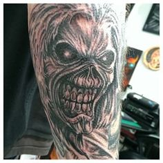 70 Best Tattoo Of Eddie From Iron Maiden Images Beautiful