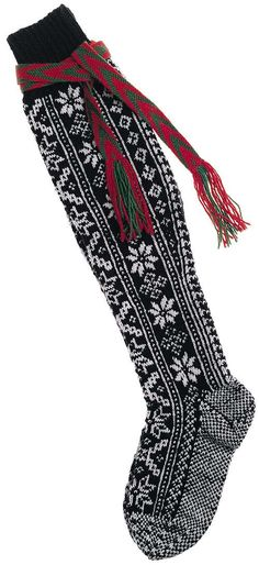 socks to be worn with a Hardanger bunad.....or to hang by the fireplace at Christmas with your name embroidered on it. That's what we have at our house!