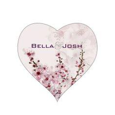 Cherry Branches Wedding Stickers